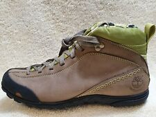 Timberland World Hiker Waterproof Ladies Mid Boots Leather Grey/Green UK 4 EUR37