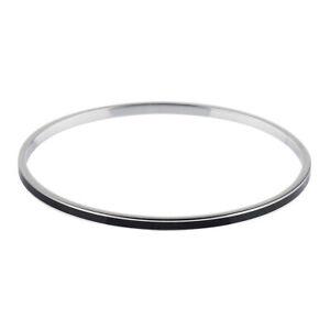 Ernstes Design Bangle Stainless Steel A1583BL Bracelet With Ceramic Black