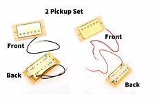 Gold Cream Ring Les Paul Set Humbucker Pickup Gibson Guitar Neck Bridge Epiphone