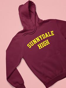Maroon Sunnydale High Adult Hoodie Hooded Sweatshirt Buffy Inspired SHS