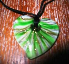 Love Hearts Glass Strand/String Costume Necklaces & Pendants