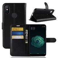 Funda para el Xiaomi Mi 6X Mi A2 Libro Cover Wallet Case-s bolsa Negro