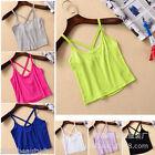1PC Fashion Womens Girls Cross Strap Tank Top Vest Camisole Crop Shirt T Shirt