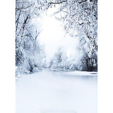3x5ft Snow Christmas Cloth Background Photography Photo Backdrop Studio Props
