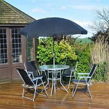 Textilene 4 Seater Garden Furniture Set With Parasol and Table
