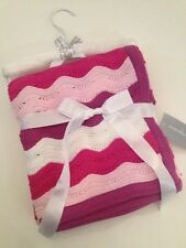 First Impressions Baby Girls Knit Blanket Pink Chevron Layette Newborn 28x40