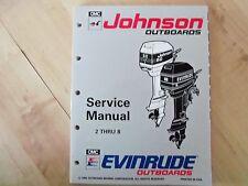 JOHNSON OUTBOARD FACTORY SERVICE REPAIR MANUAL.2,3,4,5,6.6.5,8 H.P. MODELS.NOS