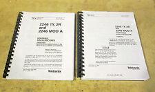 Tektronix 2246 1Y 2R MOD A user manual AND service manual - PAIR!