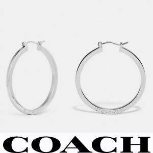 *AUTHENTIC* COACH Silver Hoop Earrings F73022
