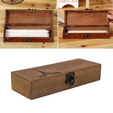 Retro Eiffel Tower Wood Wooden Pen Pencil Case Holder Stationery Box Storage FQ