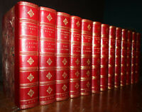 1872 Works of William Makepeace Thackeray 13 Vols Vanity Fair Larkins Binding