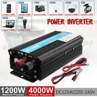 Spannungswandler 12V/230V 2000W/4000W Wechselrichter PKW KFZ Inverter mit USB