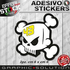 Adesivi Sticker BLOCK KEN 43 TESCHIO SKULL RALLY FORD CUSTOM DC HOONIGAN GT