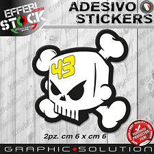 Adesivi Sticker BLOCK KEN 43 TESCHIO SKULL RALLY FORD CUSTOM DC HOONIGAN GT