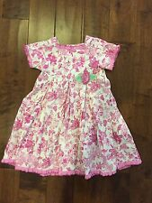 Nwot Baby Lulu Adorable Girls Pink Floral Butterfly Pleated Dress Size 6