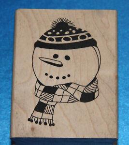 NEW Inkadinkado 'Snowman' Christmas Rubber stamp 🎄 ⛄️