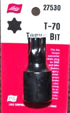 """Lisle 27530 T-70 T70 Torx Large Bit 1/2"""" Drive But Made in USA in origin package"""