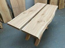 Waney Oak Boards - Oak slabs various sizes kiln dried & planed  50mm thick