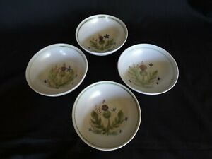 Buchan Thistleware - Set of 4 Hand Painted Coupe Cereal Bowls