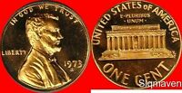 1973 S Lincoln Cent Cameo Gem Proof