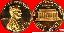1973 S Lincoln Cent Cameo Gem Proof No Reserve