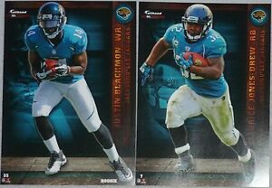2012 NFL FATHEAD TRADEABLES Lot 2 Maurice Jones-Drew MJD Justin Blackmon Rookie