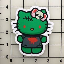 "Hello Kitty Frankenstein 4"" Tall Color Vinyl Decal Sticker BOGO"