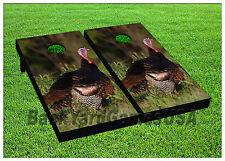 Cornhole Wild Turkey Boards BEANBAG TOSS GAME w Bags Set