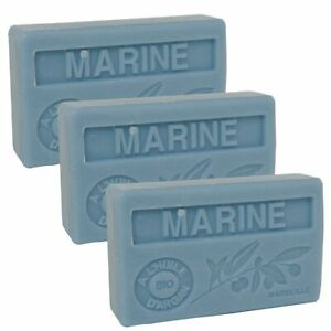 3 x 100g Bars - Scent of the Sea Scented French Soap with Organic Argan Oil