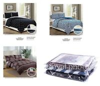 Reversible Luxury Duvet Cover with Pillow Case Quilt Cover Bedding Set Double