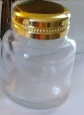 Flint Glass Inkwell Ink Bottle Gold-Plated Cover