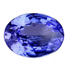 2.835 CTS MIND BOGGLING AMAZING BLUE NATURAL TANZANITE OVAL LOOSE GEMSTONES