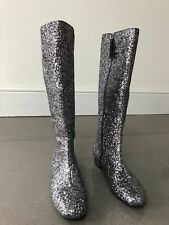 Boden Ladies Silver Glitter Boots Eur 38 UK 5