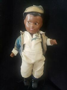 "Rare 1949 Vintage 13"" Composiiton Jackie Robinson Brooklyn Dodgers Doll"