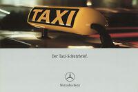 Mercedes Taxi-Schutzbrief Prospekt 2002 4/02 brochure prospectus Autoprospekt
