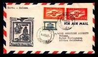 Portugal 1941 F18-21 FFC, Horta to Bolama - L7588