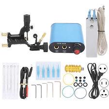 Beginner Tattoo Kit Coil Machine Gun Foot Pedal Needle Power Supply Tip Grip Set