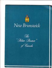 New Brunswick Canada The Picture Province of Canada Vintage Tourist Guidebook