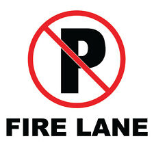 "No Parking On Fire Lane Sign 8"" x  8"""