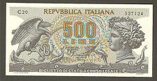 500 lire ARETUSA serie senza fibrille! C20 decreto 1970 rarissima SPL/STP no FDS