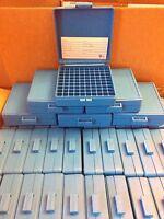 DILLON PLASTIC AMMO BOX (1) BLUE 100 Round 45 ACP .45 .40 40 10mm w label 13574