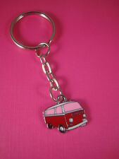 FUNKY RED PINK VW CAMPER VAN KEY RING CHAIN KITSCH CUTE RETRO SURFER GIFT BAG