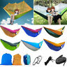 Parachute Nylon Hammock Outdoor Travel Camping Sleeping Swing Hanging Hang Bed