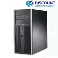 HP Desktop Computer Tower Quad Core i5 8GB 128GB SSD DVD Wifi Windows 10 Pro PC