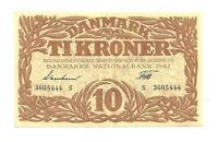 Dänemark  10 Kroner  1942  P. 31i  XF