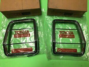 Toyota Cressida MX30 RX30 X30 Tail Light Rim Berzel Set 75911-22010 Genuine NOS
