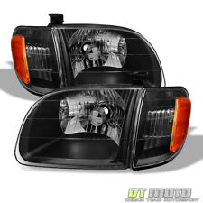 Black 2000-2004 Toyota Tundra Regula/Access Cab Headlights Headlamps Left+Right