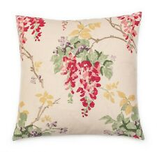 """New Laura Ashley Fabric Cushion Cover 16"""" Wisteria  in Cranberry"""