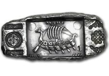 """1 oz .999 Solid Silver Hand-Poured Relic Bar - """"Viking Longship"""" - In Stock Now!"""