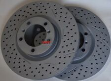 Fits Panamera S 4S Base Cross Drilled Brake Rotors Made In Germany Front